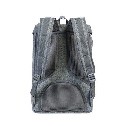 Imagen de herschel supply co. poco américa mid volume , raven crosshatch/black rubber gris  10020 00919 os alternativa