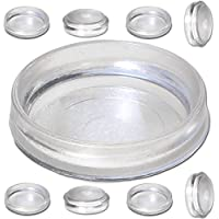 8x Large Clear Castor Cup Furniture Feet 60mm