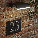Biard Livada Applique LED 10W IP54 da Parete con Design Curvo in Nero per Interni ed Esterni - Lampada Impermeabile per Bagni Giardini sopra-Specchio
