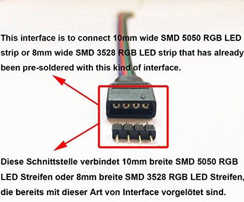 litaelek 10x rgb 5050 schnellverbinder 4 polig. Black Bedroom Furniture Sets. Home Design Ideas