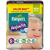 PAMPERS Couches Active Fit Taille 5 junior (11-25 kg) - Format économique 1 x 42 couches