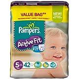 PAMPERS Couches Active Fit Taille 5 junior (11-25 kg) - Format économique 1 x 42 couches