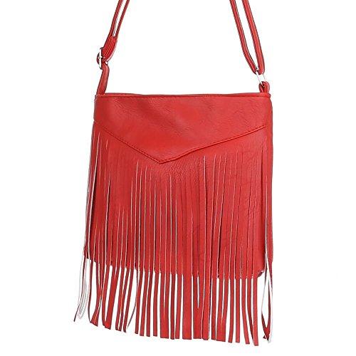 Ital-DesignSchultertasche bei Ital-Design - Borsa a spalla Donna rosso