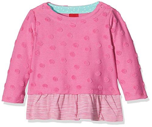 s.Oliver s.Oliver Baby - Mädchen Sweatshirt 65.801.41.4665, Einfarbig, Gr. 74, Rosa (Pink 4451)