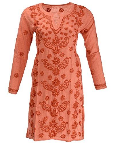 Banthan Women's Cotton Regular Fit Kurta (Bant_105, Blaze Orange, 38)