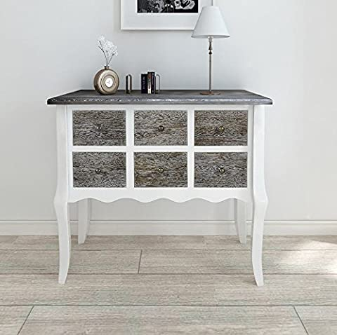French Style Chest Drawers White Antique Furniture Shabby Chic Sideboard Table