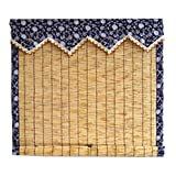Zhaoxiaomei Persianas Enrollables De La Cortina De Reed, Decoración De La Habitación del Té del Cortijo De La Cortina De La Partición De La Sombrilla (Tamaño : 1.5x2m)