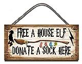 Gigglewick Gifts Gratuit d'une Elfe de Maison Don d'une Chaussette Ici Humoristique en Bois...