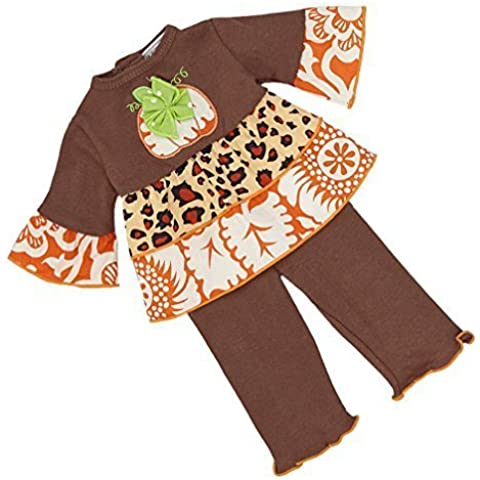 AnnLorenThanksgiving Harvest Pumpkin clothing set fits American Girl Dolls by AnnLoren