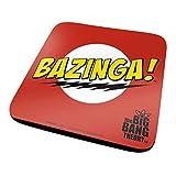 Pyramid International The Big Bang Theory Bazinga Red ufficiali bevande sottobicchiere in melamina protettiva con base in sughero, multicolore, 10x 10cm
