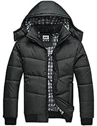Imixcity Men Parka Winter Jacket Warm Hooded Coat Clothes Zip Hoodie Down Outwear Clothing