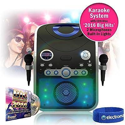 Mr Entertainer KAR120 Bluetooth Karaoke Machine with Microphones