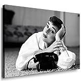 Audrey Hepburn - Bild - 100x70cm Bild fertig auf Keilrahmen ! Pop Art Gemälde Kunstdrucke, Wandbilder, Bilder zur Dekoration - Deko. Film / Movie / Tv Stars Kunstdrucke