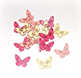 Streudeko 'Schmetterling' aus Holz 48er-Set