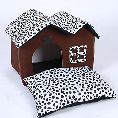 Xdyff cuccia per gatti da interno casa domestici cane e gatto morbido, accogliente, caldo, pieghevole, cane, nido, nido, casa a doppio tetto è rimovibile