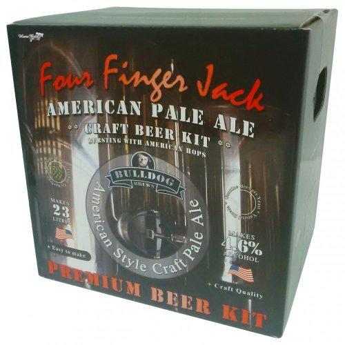Bulldog Home brew Kit Four Finger Jack American Pale Ale by Bulldog Jack Kit