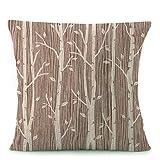 Copriletto Cuscino decorativo federa 18da 18pollici alberi stampato