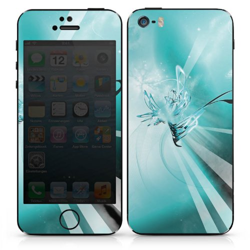 Apple iPhone 4 Case Skin Sticker aus Vinyl-Folie Aufkleber Space Universum Abstrakt DesignSkins® glänzend