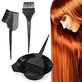 4 PCS Salon Hair Dye Tint Bleichen Rührschüssel Kamm Bürste / Kamm Färben Werkzeug Set