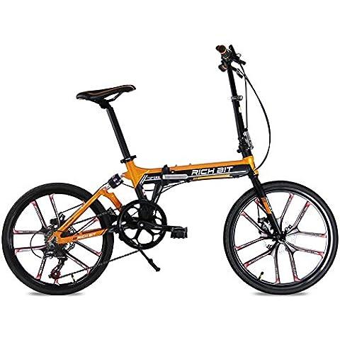Aggiornamento TOP-020 Arancione Shimano 7 marce 20 pollici integrato 5 raggi bici bicicletta