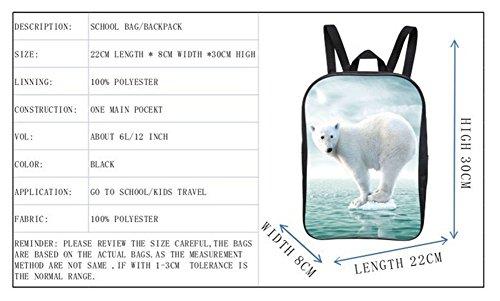 Moolecole Studenten Schule Taschen Kinder Rucksack Jungen Niedlich Tier Polar Bär Kinder Daypack polar bearB1