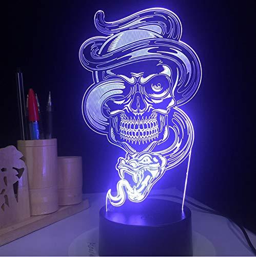 Kinder kinder nachtlicht usb schädel licht touch sensor gesteuert gothic halloween tischlampe kinder geschenk