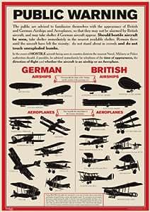 World War 1 Public Warning Aircraft Identification Poster - A3