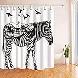 YuLl Einfache und StilvolDrucken von 3D-Zebra Form Badezimmer Duschvorhang Wasserdicht und Anti-schimmel Polyester Duschvorhang (Farbe: C Größe: 180 * 180 cm).