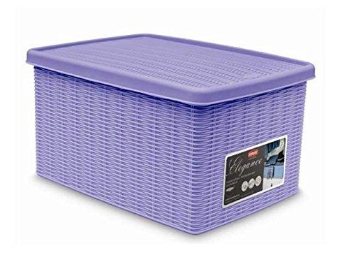 Fußball 16 Box Case (Elegante Behälter Box Lavendel mit Deckel 19x 29x 16cm stf603)
