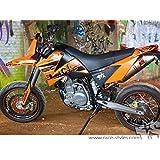 CEMOTO Garde-boue arri/ère en plastique pour moto cross enduro LC4 620 SM 1999//2002 LC4 625 SM 1999//2002 LC4 640 SMC 2000//2001 LC4 625 2004 LC4 660 SMC 2003//2004 noir