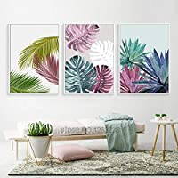 ASDZXC Colorful Leaf Poster Posters And Wall Art Prints Canvas Painting Wall Pictures For Living Room Picture