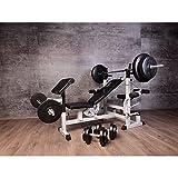 Gorilla Sports Hantelbank inkl. 75kg Kunststoff-Gewichten - 7