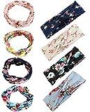Milacolato 8 Stücke Stirnbänder Frauen Mädchen Breite Boho Verknotete Yoga Kopf Wickeln Haarband