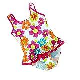 [Badeanzug Kinder Mädchen] Aufdruck Blumen Bikini Schwimmanzug Kleinkind Bademode Baby