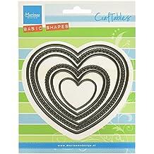 Marianne Design Cr1351 - Troqueles con diseño corazón, 11 x 9.6 x 0.3 cm, Color Gris