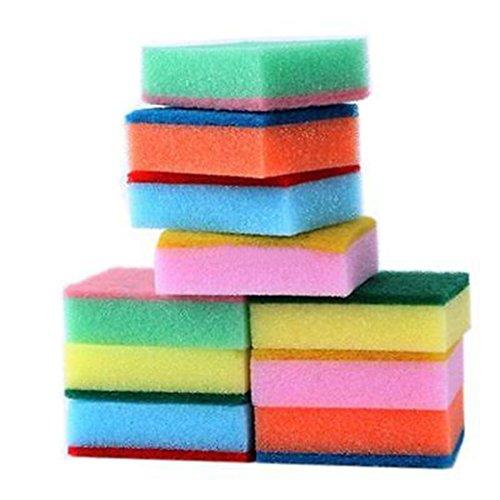 Bunte Reinigungsschwämme, Xjp 10 Stücke bunte Schwämme für Küche Reinigungswerkzeuge