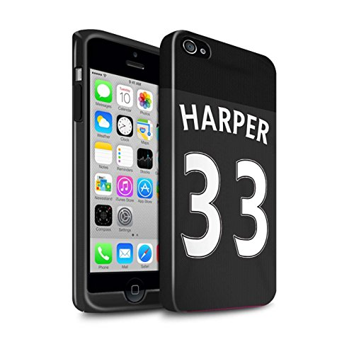 Offiziell Sunderland AFC Hülle / Glanz Harten Stoßfest Case für Apple iPhone 4/4S / Pack 24pcs Muster / SAFC Trikot Away 15/16 Kollektion Harper