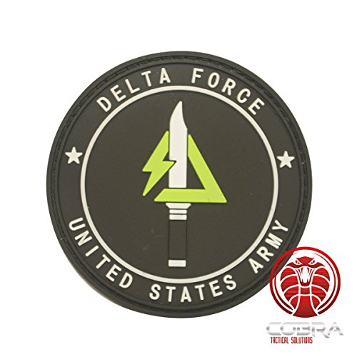 Cobra Tactical Solutions Delta Force | United States Military 3D PVC Patch Schwarz Klett Airsoft - Air Force Uniform