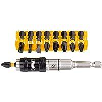 DEWALT DT70518T-QZ Set Composto da 10 Pezzi Assortiti PH2 x2, PZ2 x2, PZ3 x2, SL6, T15, T30, Porta Inserti Magnetico…