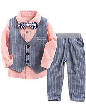 Le SSara Ragazzi camicia a maniche lunghe gentiluomo & maglia a strisce & pantaloni 3 pezzo abiti