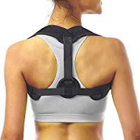 WenderGo Posture Corrector for Woman/Men, Adjustable Double Belt Comfortable Posture Brace to Correct Posture and Pain Relief on Back Shoulder Spinal Neck (Black)
