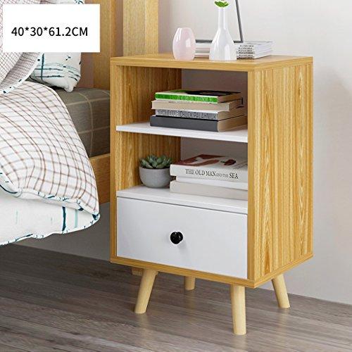 Comodino gambe di legno con cassetto armadietti multifunzione armadio di stoccaggio cassettiera (colore : 1, dimensioni : single drawer)