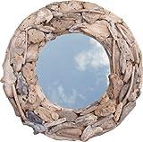 Guru-Shop Treibgut-Spiegel Rund 60cm, 60x60x10 cm, Spiegel