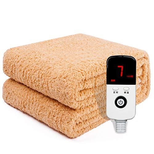 Electric blanket Lxn Heizdecke, Einzelbett, Doppelbett, 3 Personen, strahlungsfreie, beheizte Matratze mit 9 Heizstufen / 12-Stunden-Abschaltautomatik