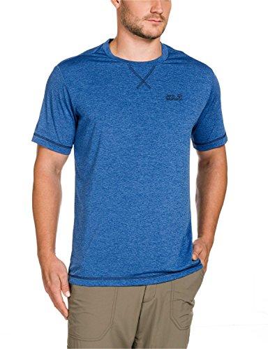 Jack Wolfskin Herren Shirt Crosstrail T Classic Blue