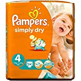 Pampers Simply Dry Taille 4 Maxi 7-18kg (24) - Paquet de 6