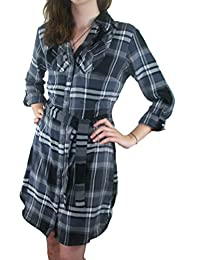 Ladies Checked Dress / Long Shirt Tunic Women's size 8 - 22