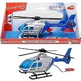 Polizeihubschrauber, 24 cm, drehende Blötter, Heckklappe zum Íffnen: 24cm Hubschrauber mit Funktion Polizei Helikopter Kinder Spielzeug Heli