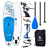 redder Tablas Paddle Surf Hinchables Vortex Pro Doble Capa All Round 10' Tabla Stand Up Paddle - Kit con Inflador, Carbono Pala Ajustable 3 Piezas, Mochila de Viaje, Kit de Reparación