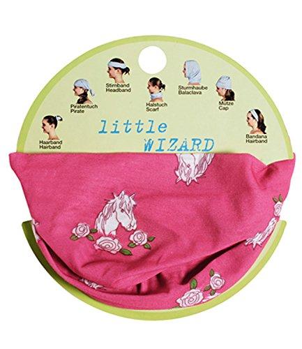EveryHead Fiebig Loop Multifunktionstuch Zaubertuch 7 in 1 Bandana Haarband Halstuch Mütze Rundschal mit Pferdemotiv (FI-87721-S16-BM3-10-One Size) in Pink, Größe One Size inkl ()